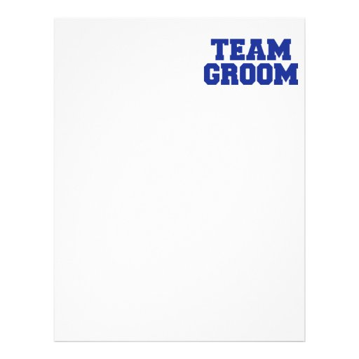 Team Groom Personalized Letterhead