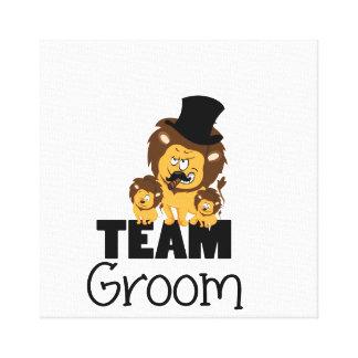 Team groom - lions canvas print
