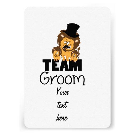 Team groom - lions invitations