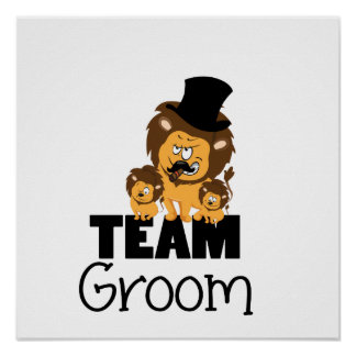 Team groom - lions poster