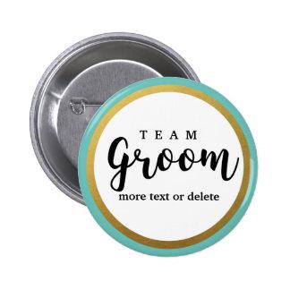 Team Groom Modern Wedding Favors for Groomsmen 2 Inch Round Button