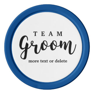 Team Groom Modern Wedding Favors for Groomsmen Set Of Poker Chips