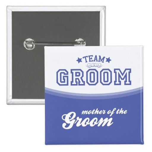 Team Groom-Mother of Groom (Stars) Button