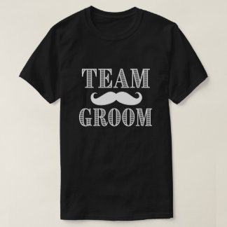 Team Groom Mustache Bachelor Party Shirt