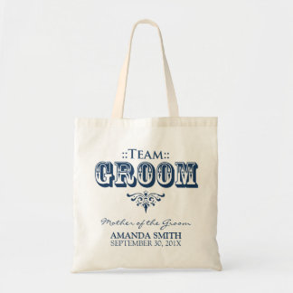 """""""TEAM GROOM"""" Personalized Wedding Party Tote Bag"""