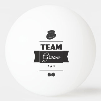 Team groom ping pong ball