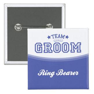 Team Groom-Ring Bearer Stars Button