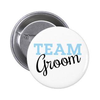 Team Groom Script Pinback Button