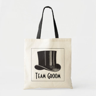 Team Groom Steampunk Top Hat Tote Bag