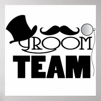 Team Groom - Top hat, monocle Poster