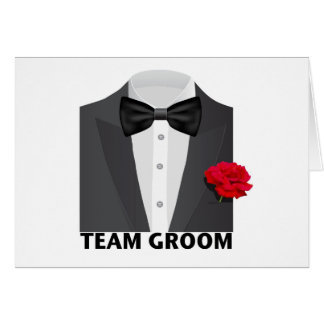Team Groom (tux) Card