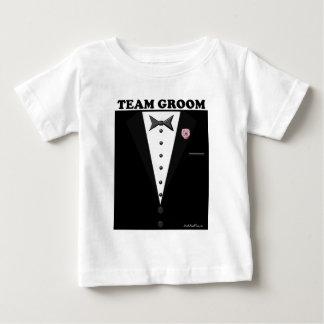 Team Groom (tuxedo) Baby T-Shirt