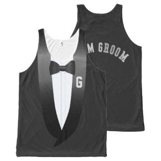 Team Groom Tuxedo Beach Wedding Tank