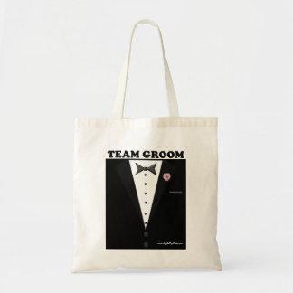 Team Groom (tuxedo) Budget Tote Bag