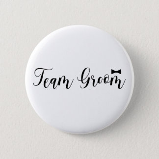 Team Groom, Wedding, Bachelor Name Tag 2 Inch Round Button