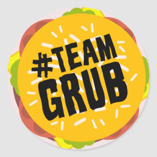 """#TEAM GRUB"" sticker"