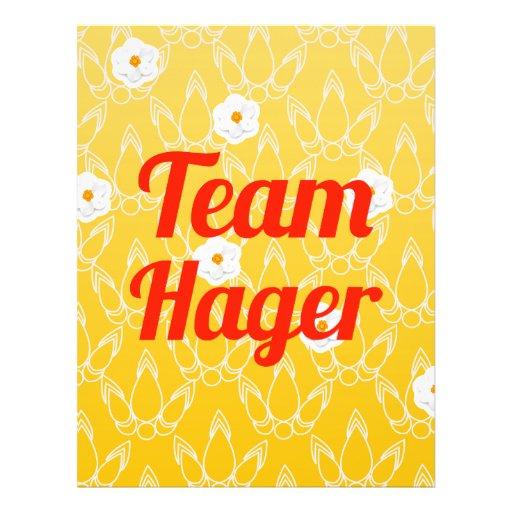 Team Hager Flyer Design
