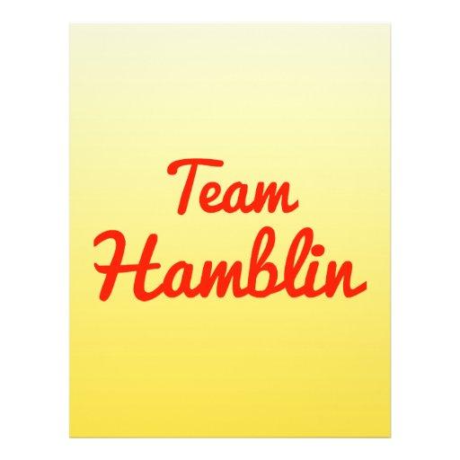 Team Hamblin Full Color Flyer