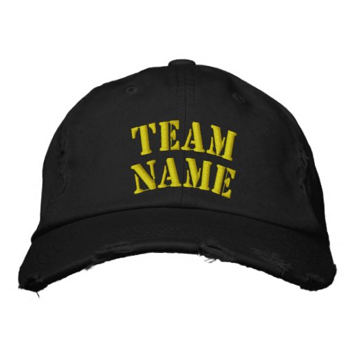 Team Hat Embroidered Baseball Cap