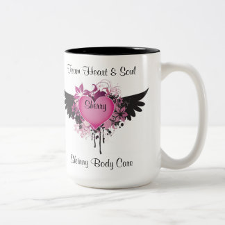 Team Heart & Soul Two-Tone Coffee Mug