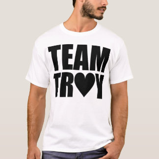 Team Heart Troy (Black Text) T-Shirt