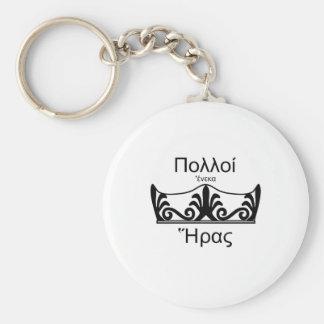 Team Hera-Ancient Greek Basic Round Button Keychain
