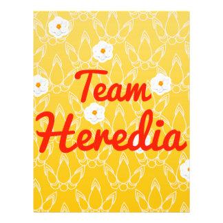 Team Heredia Flyer Design