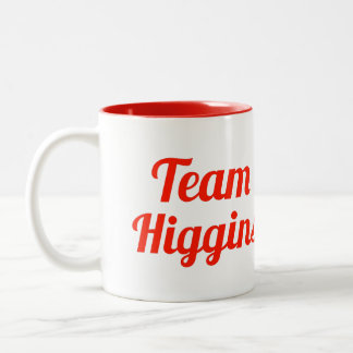 Team Higgins Two-Tone Coffee Mug