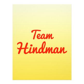 Team Hindman Full Color Flyer