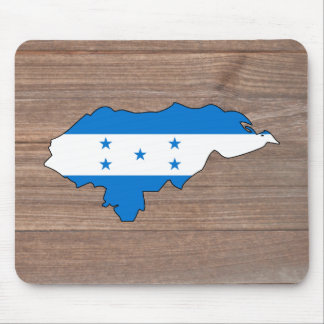 Team honduras Flag Map on Wood Mouse Pad