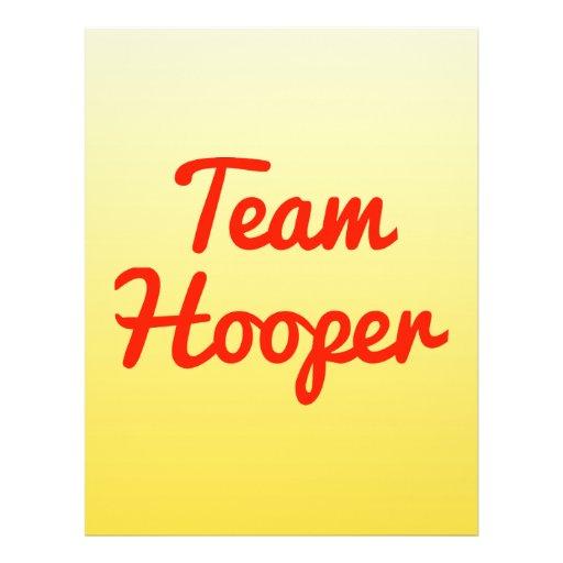 Team Hooper Flyer Design