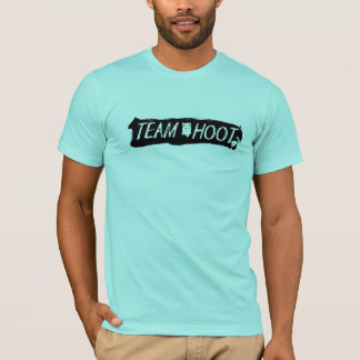 Team Hoot Swipe Black T-Shirt