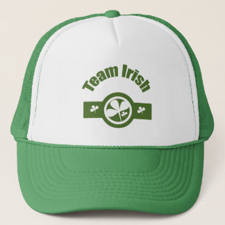 Team Irish Green White Logo Trucker Hat