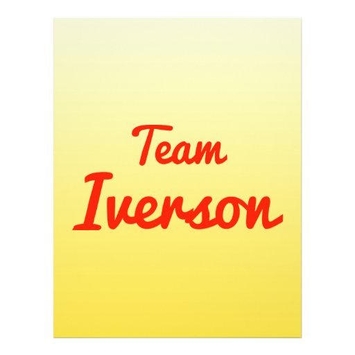Team Iverson Full Color Flyer
