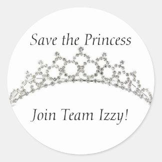 Team Izzy Round Stickers