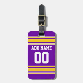Team Jersey with Custom Name and Number Bag Tag