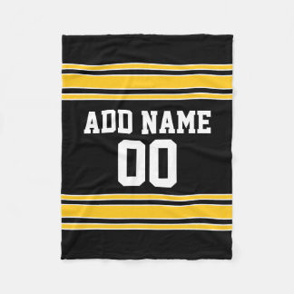 Team Jersey with Custom Name and Number Fleece Blanket