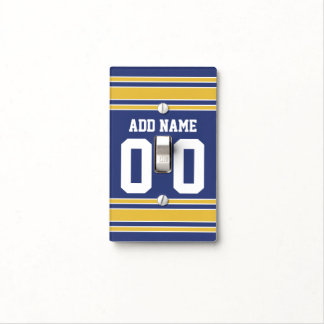 Team Jersey with Custom Name and Number Light Switch Cover