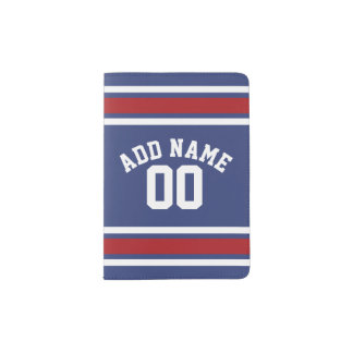Team Jersey with Custom Name and Number Passport Holder