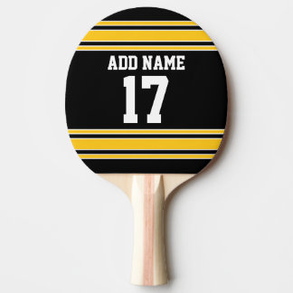 Team Jersey with Custom Name and Number Ping Pong Paddle