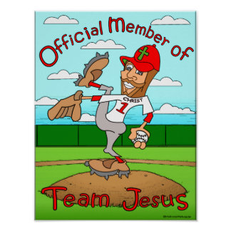 Team Jesus (Baseball) Poster
