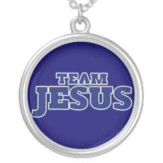 Team Jesus Silver Plated Necklace