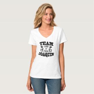Team Joaquin Steak Is Coming Women White T VNeck T-Shirt