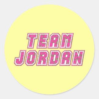 Team Jordan Classic Round Sticker