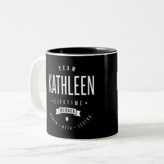 Team Kathleen Two-Tone Coffee Mug