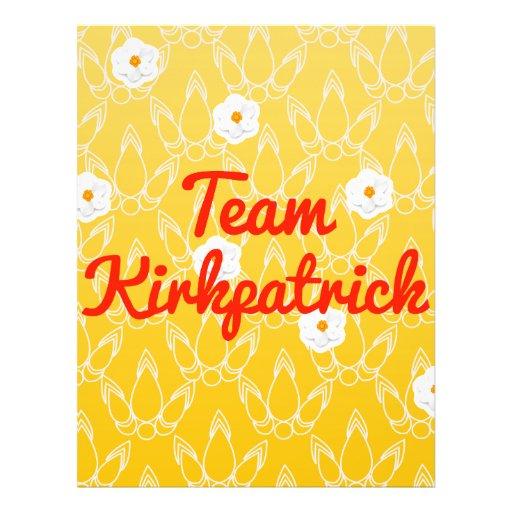 Team Kirkpatrick Flyer