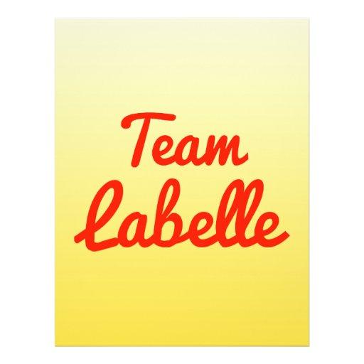 Team Labelle Full Color Flyer