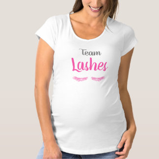 Team Lashes Gender Reveal Maternity T-Shirt