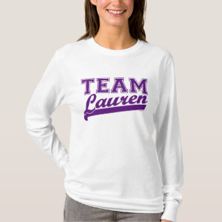 Team Lauren Purple T-Shirt