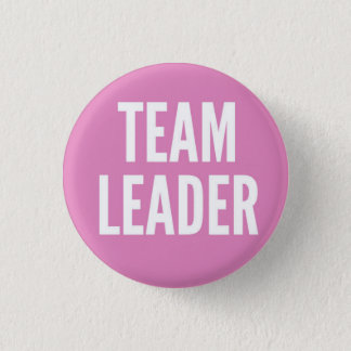 Team Leader 1 Inch Round Button
